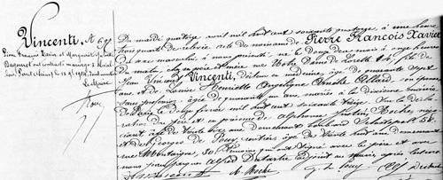 1874 - Acte de naissance de Pierre Vincenti (dit Piobb)
