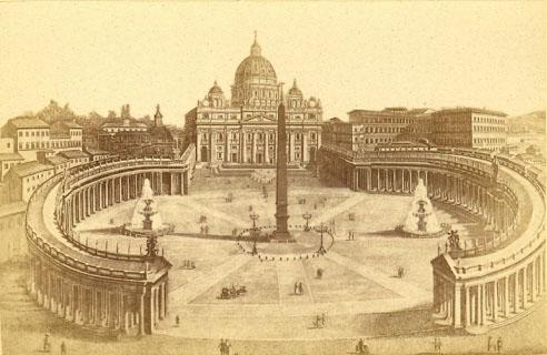 Basilique Saint-Pierre, vue panoramique de Altobelli, 1874