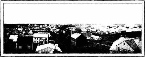 Panorama de Reykjavik, Photo Pierre Piobb, En Islande, Tour du Monde, 1904