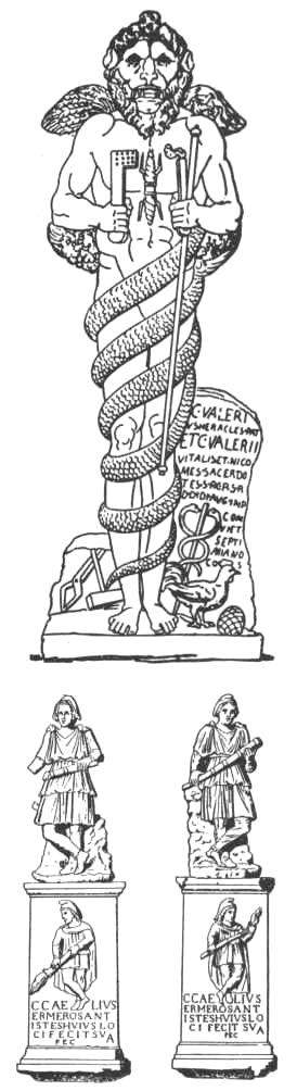Figures mithraïques découvertes à Ostie