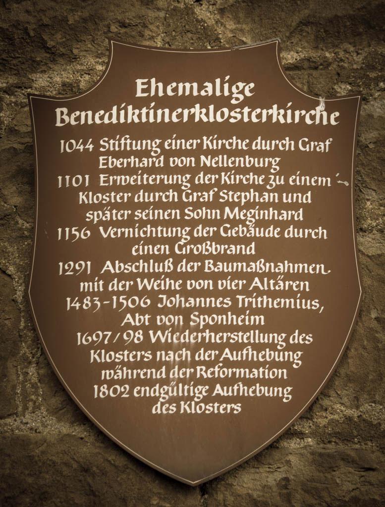 Historique de l'Abbaye de Spanheim