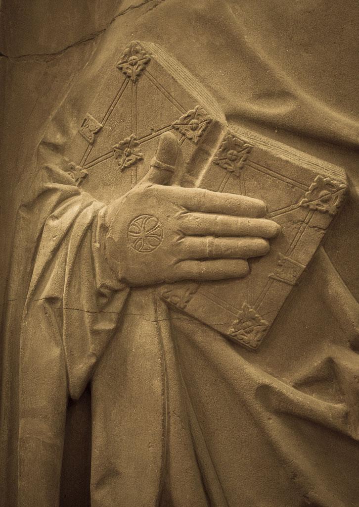 Main droite de Jean Trithème